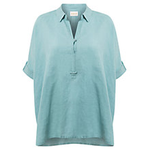 Buy East Handkerchief Hem Linen Shirt, Lightlake Online at johnlewis.com