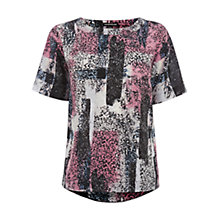 Buy Warehouse Texture Print Top, Multi Online at johnlewis.com