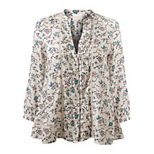 Buy East Eliza Print Shirt, Ivory Online at johnlewis.com