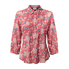Buy East Poppy Arabella Print Shirt, Red Online at johnlewis.com