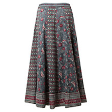 Buy East Floral Bird Print Skirt, Soft Celdo Online at johnlewis.com