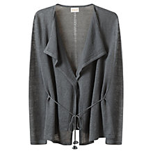 Buy East Tie Back Linen Swing Cardigan Online at johnlewis.com