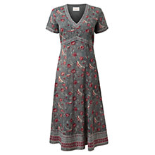 Buy East Floral Bird Print Dress, Grey Online at johnlewis.com