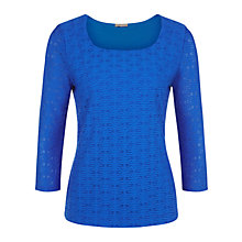 Buy Planet Textured Top, Bright Blue Online at johnlewis.com