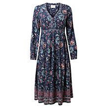 Buy East Audrey Floral Print Dress, Indigo Online at johnlewis.com