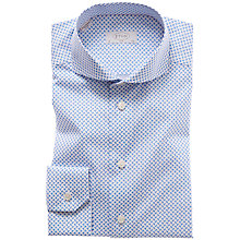 Buy Eton Blue Paisley Print Poplin Shirt, Blue/White Online at johnlewis.com