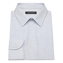 Buy Jaeger Micro Windowpane Classic Shirt, Pale Blue Online at johnlewis.com
