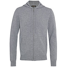 Buy Jaeger Cashmere Hooded Cardigan, Grey Melange Online at johnlewis.com