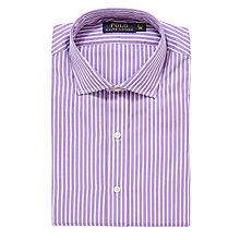 Buy Polo Ralph Lauren Custom Fit Striped Shirt, Orchid/White Online at johnlewis.com