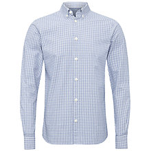 Buy Jaeger Oxford Windowpane Check Shirt, Blue/White Online at johnlewis.com
