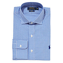 Buy Polo Ralph Lauren Gingham Check Shirt, Royal Blue Online at johnlewis.com