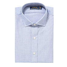 Buy Polo Ralph Lauren End on End Custom Fit Shirt, Blue Online at johnlewis.com