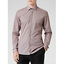 Buy Reiss Cheetah Micro Leopard Print Shirt, Bordeaux Online at johnlewis.com