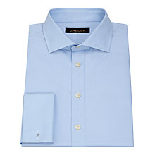 Buy Jaeger Poplin Cutaway Collar Double Cuff Shirt, Pale Blue Online at johnlewis.com