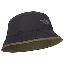 Buy The North Face Sun Stash Hat, Burnt Olive Green/TNF Black Online at johnlewis.com