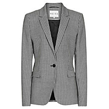Buy Reiss Leone Patterned Jacket, Black/White Online at johnlewis.com
