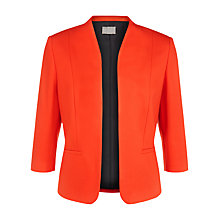 Buy Planet Ponte Jacket, Bright Orange Online at johnlewis.com