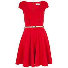 Buy Closet V-Neck Cap Sleeve Dress, Red Online at johnlewis.com