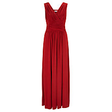 Buy John Lewis Frances Jersey Maxi Dress, Red Online at johnlewis.com