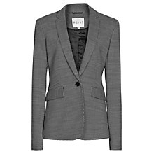 Buy Reiss Neela Slim Fit Jacket, Black/Cream Online at johnlewis.com
