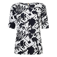 Buy COLLECTION by John Lewis Annabelle Silk Top, Navy/White Online at johnlewis.com