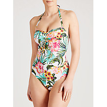 Buy John Lewis Hawaii Floral Halter Swimsuit, White / Multi Online at johnlewis.com