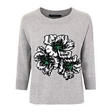 Buy French Connection Eddie Pop Intarsia Cotton Jumper, Grey Online at johnlewis.com