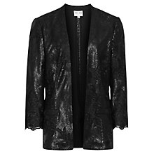 Buy Reiss Cyrano Sequin Lace Jacket, Black Online at johnlewis.com