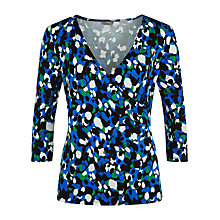 Buy Planet Brush Print Cross Over Jersey Top, Multi Online at johnlewis.com