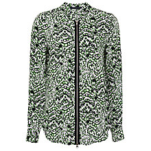 Buy French Connection Leopard Moth Shirt, Astro Green Online at johnlewis.com