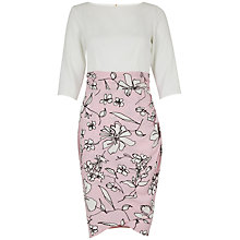 Buy Closet Floral Drape Dress, Pale Pink Online at johnlewis.com