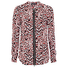 Buy French Connection Leopard Moth Shirt, Sunset Orange Online at johnlewis.com