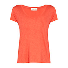 Buy American Vintage V Neck Tee Shirt, Pomelo Online at johnlewis.com