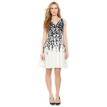 Buy Lauren Ralph Lauren Marietta Dress, White/Black Online at johnlewis.com