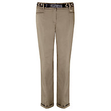 Buy Gerry Weber Crop Utility Trousers, Khaki Online at johnlewis.com