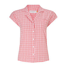 Buy Collection WEEKEND by John Lewis Cap Sleeve Check Shirt, Pink Online at johnlewis.com