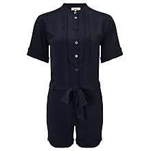 Buy Somerset by Alice Temperley Bib Front Playsuit, Navy Online at johnlewis.com