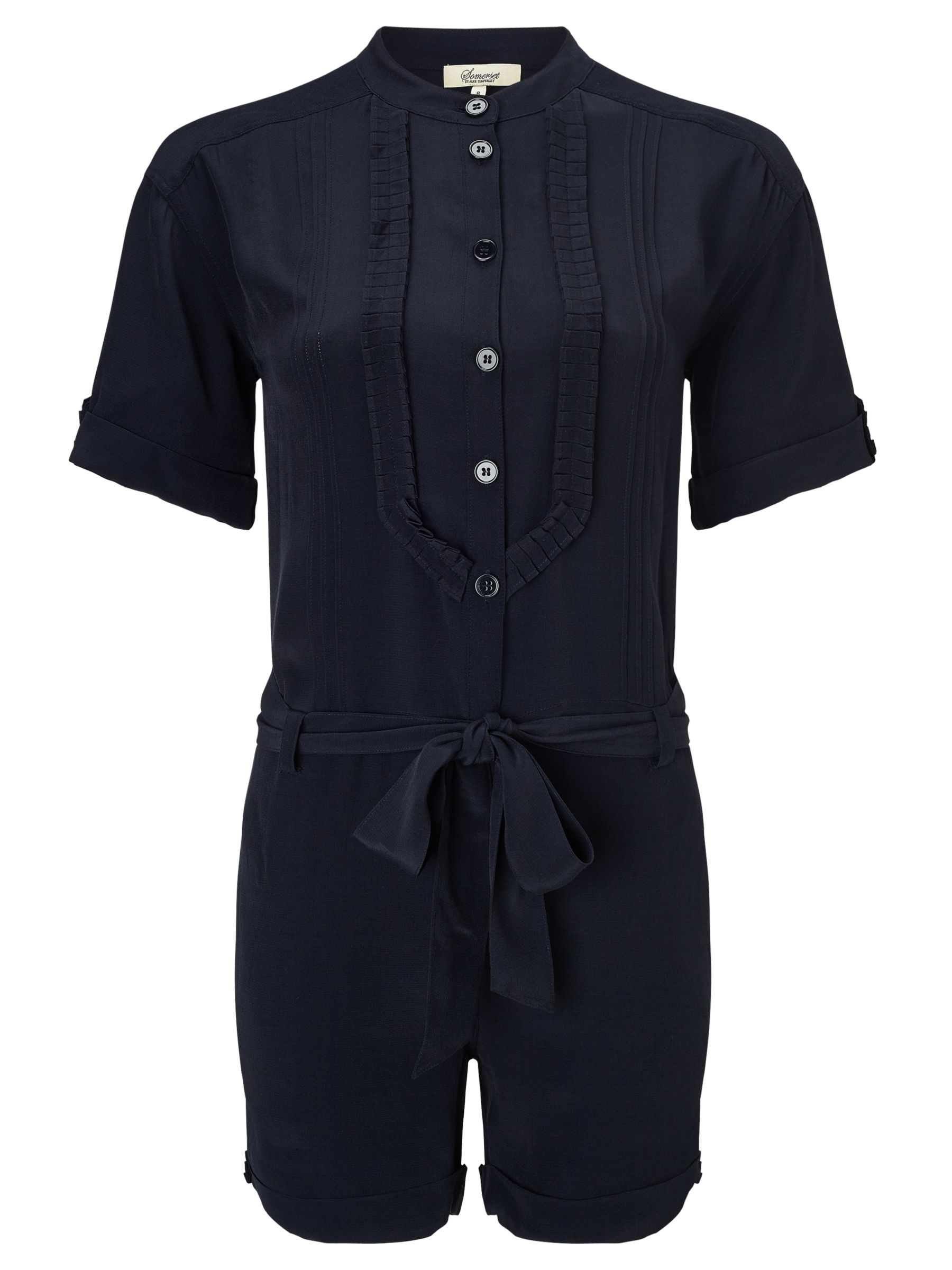 Somerset by Alice Temperley Bib Front Playsuit, Navy