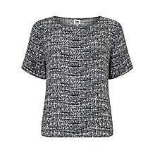 Buy Kin by John Lewis Osaka Print Top, Blue Online at johnlewis.com