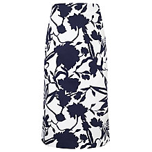 Buy COLLECTION by John Lewis Lunetta Cotton Pencil Skirt, Navy/White Online at johnlewis.com