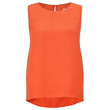 Buy Kin by John Lewis Crepe Seamed Shell Top, Mandarin Red Online at johnlewis.com