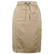 Buy Gerry Weber Tencel Drawstring Skirt, Khaki Online at johnlewis.com