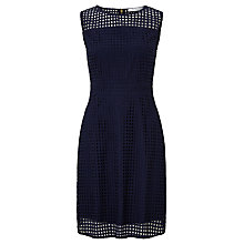 Buy COLLECTION by John Lewis Brandi Broderie Cotton Dress, Navy Online at johnlewis.com