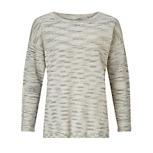 Buy John Lewis Capsule Collection Textured Jumper, Black/Silver Online at johnlewis.com
