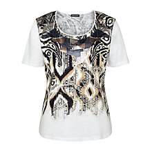 Buy Gerry Weber Sequin Print T-shirt, Multi Online at johnlewis.com