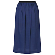Buy Collection WEEKEND by John Lewis Jacquard Full Skirt, Navy Online at johnlewis.com