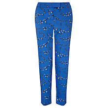 Buy Collection WEEKEND by John Lewis Flock Of Birds Capri Trousers, Bright Blue Online at johnlewis.com