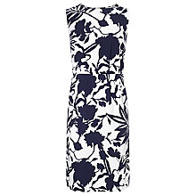 Buy COLLECTION by John Lewis Emilia Sleeveless Cotton Dress, Navy/White Online at johnlewis.com