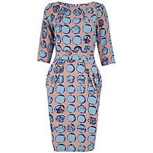 Buy Closet Circle Print Three-Quarter Sleeve Dress. Mink Online at johnlewis.com