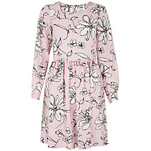 Buy Closet Floral Skater Dress, Pale Pink Online at johnlewis.com